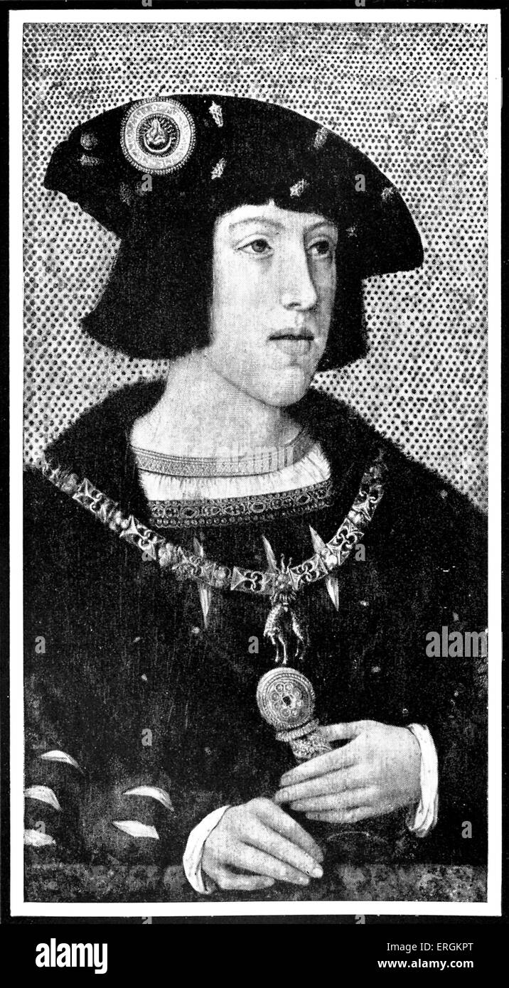 Charles V (1500 - 1558) as the Comte of Flanders. Ruler of the Holy Roman Empire from 1519 and of the Spanish Empire - Stock Image