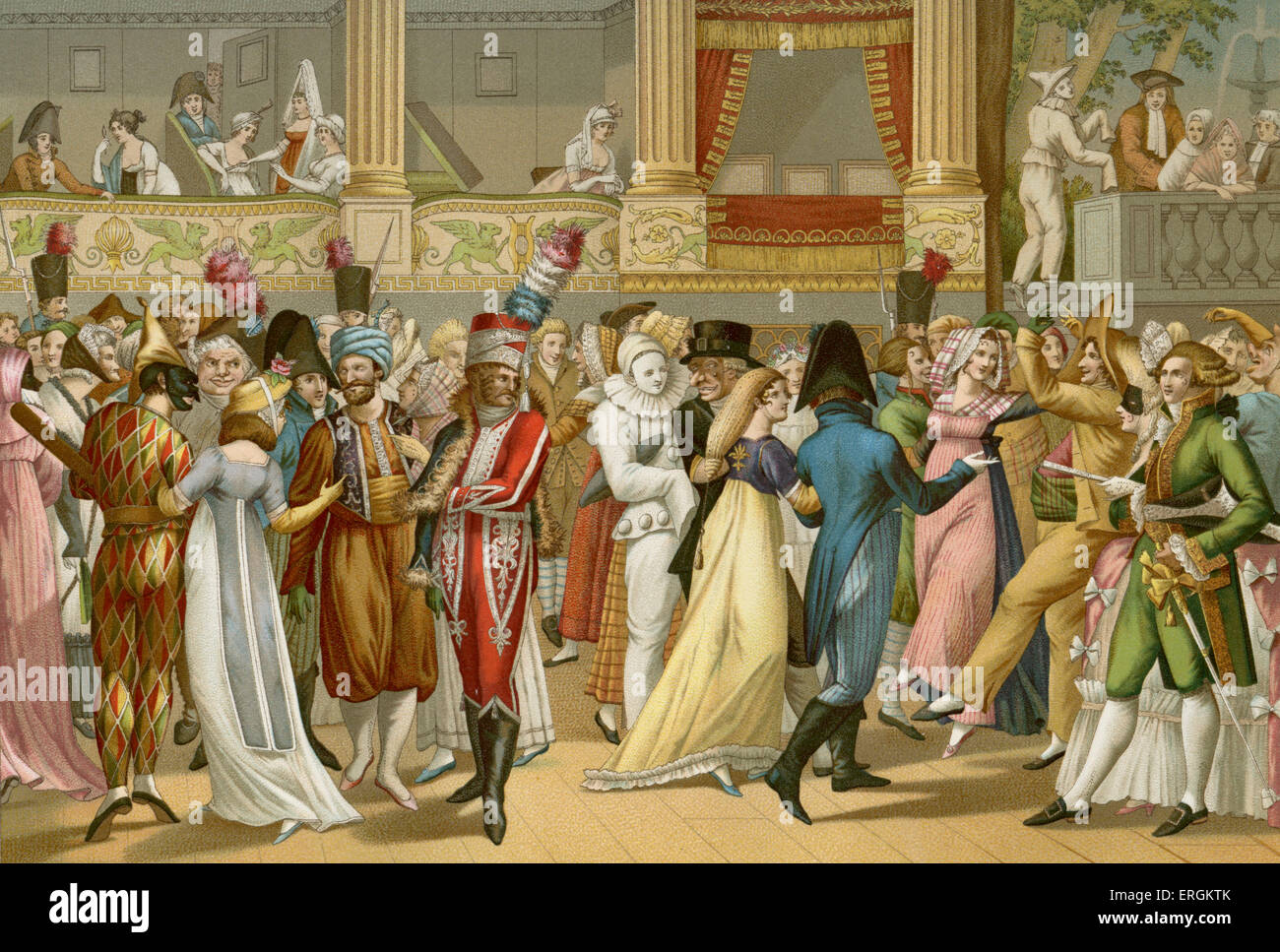 Costume Ball at the Opera - after engraving by Jean Francois Bosio after 1800. Paris & Harlequin Costume Stock Photos u0026 Harlequin Costume Stock Images - Alamy