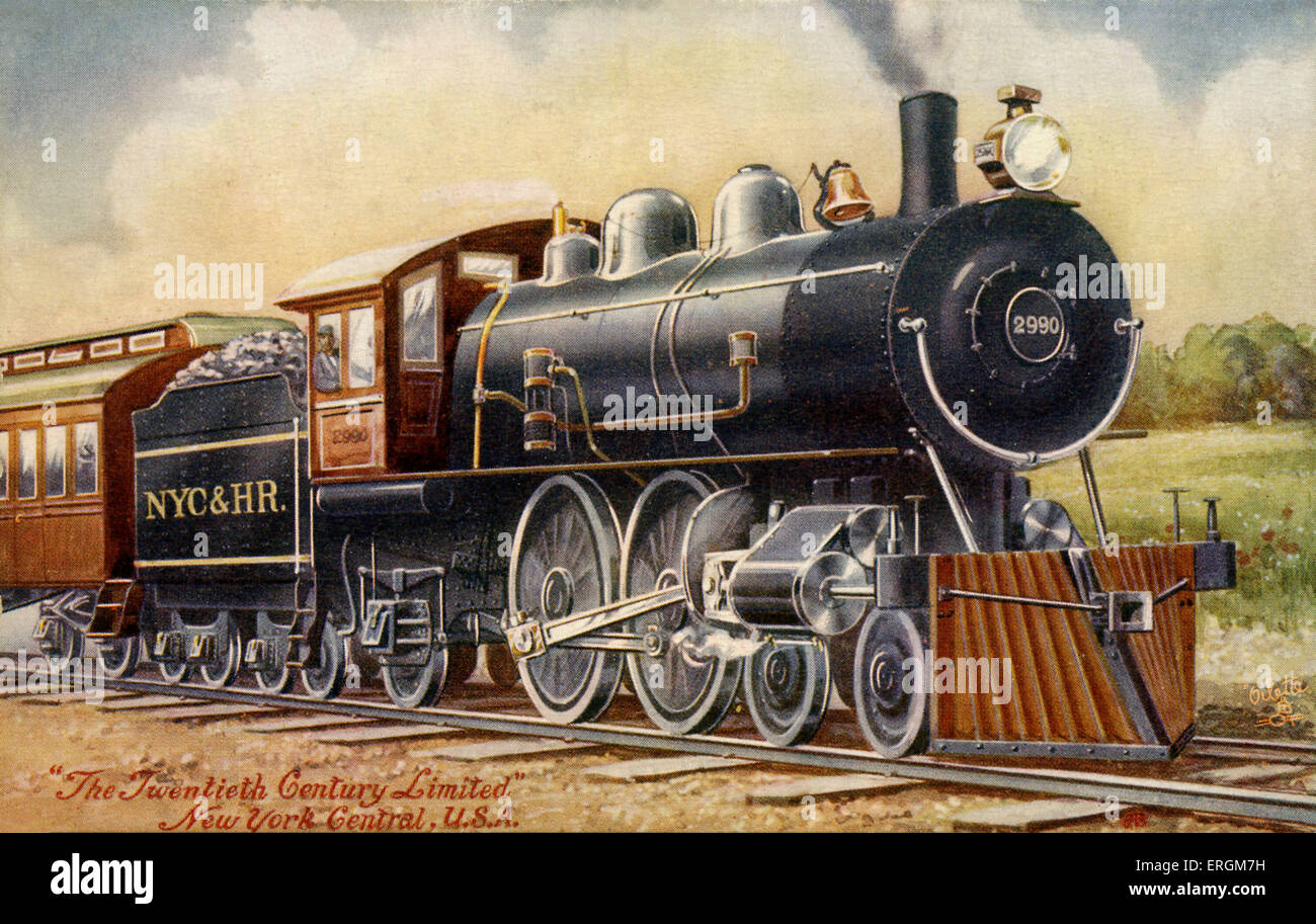 The 20th Century Limited. Express passenger train operated by the New York Central Railroad from 1902 to 1967. - Stock Image