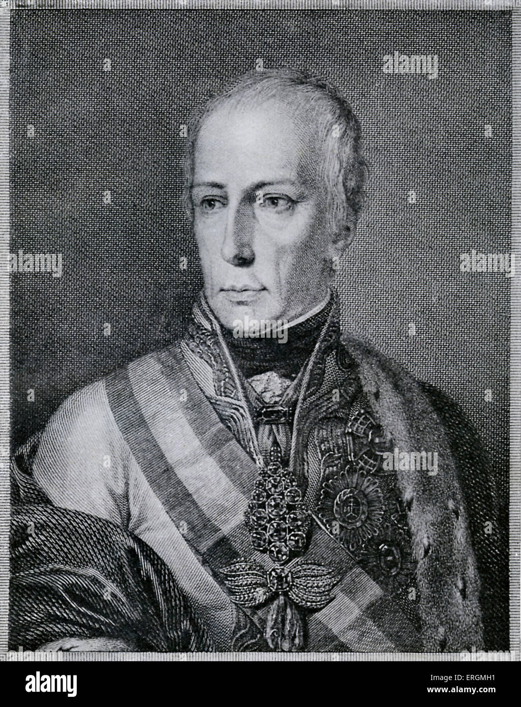 Kaiser Franz I (1768-1835) of Austria. Also known as Francis II of the Holy Roman Empire, Franz I founded the Austrian - Stock Image
