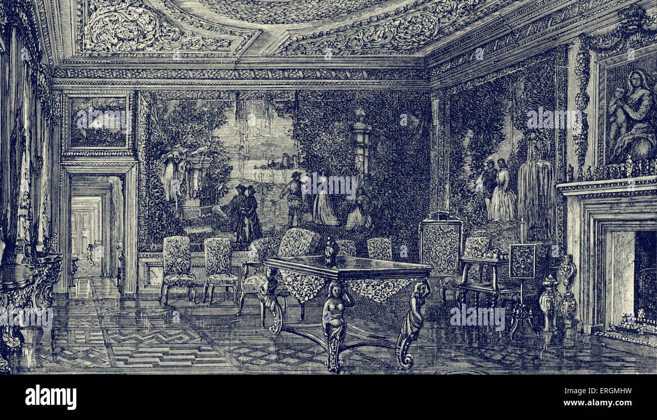 The 'Cabal' Room, Ham House. The Duchess, Elizabeth Maitland (1626-1698), was married to John Maitland (1616 - Stock Image