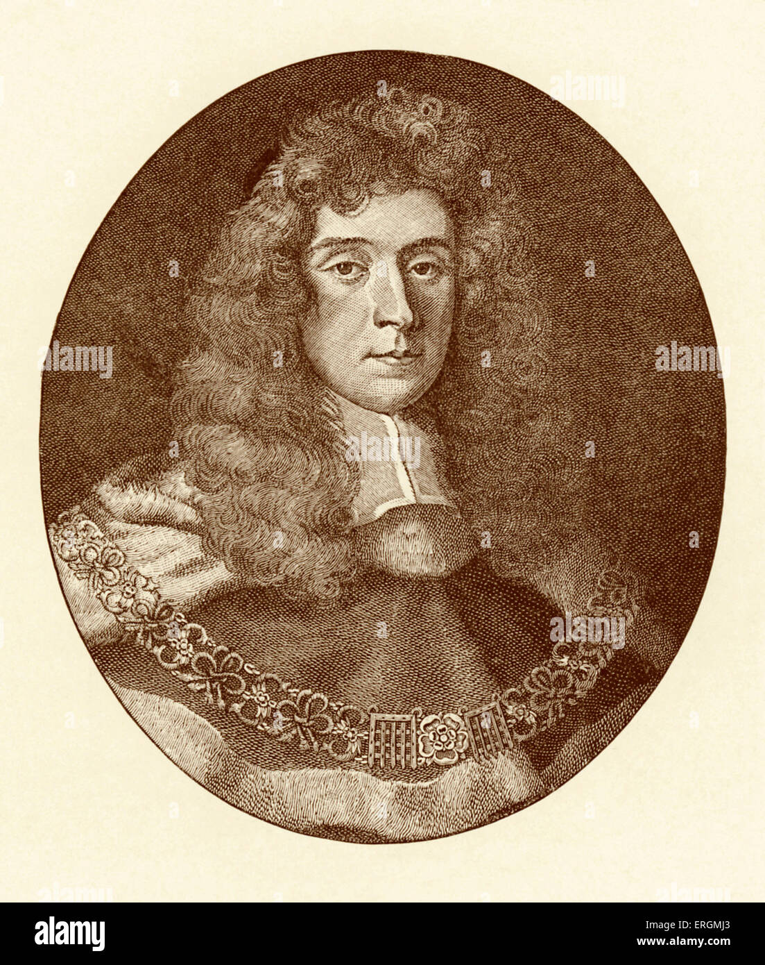 Lord Jeffreys, Chief Justice (1645-1689). Known as the 'Hanging Judge', Jeffreys earned a reputation for condemning Stock Photo