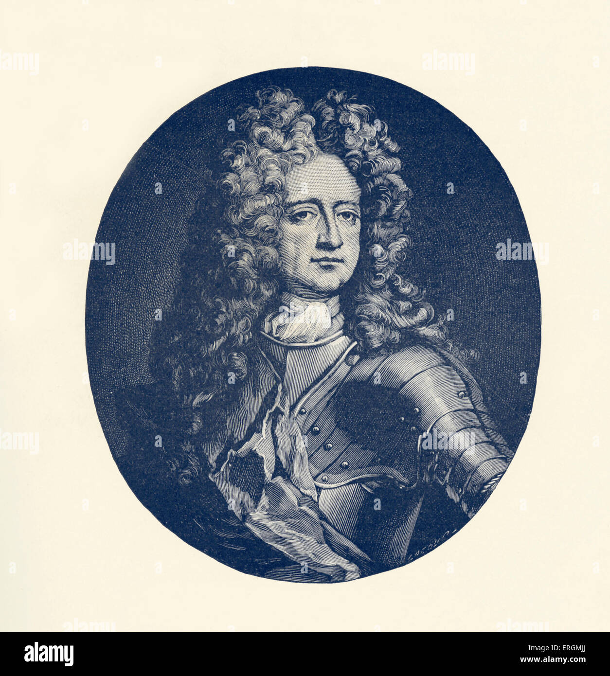 Charles Mordaunt, 3rd Earl of Peterborough (1658-1735) was an English nobleman and military leader. Stock Photo