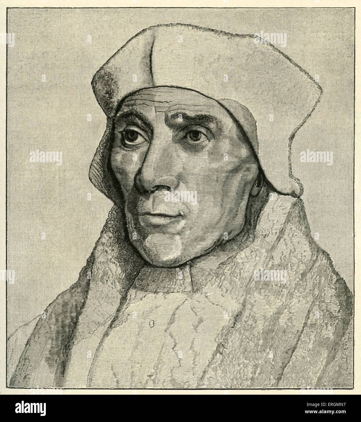 John Fisher (1459-1535) was an English Roman Catholic cardinal. Fisher was executed in 1535 for refusing to accept - Stock Image