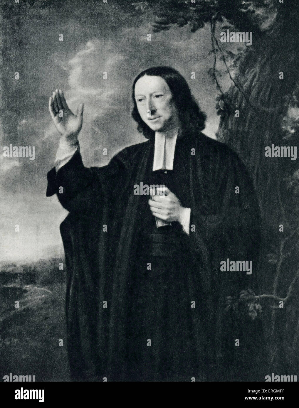 John Wesley  (17 June 1703 – 2 March 1791)- English Anglican cleric and Christian theologian credited with founding - Stock Image