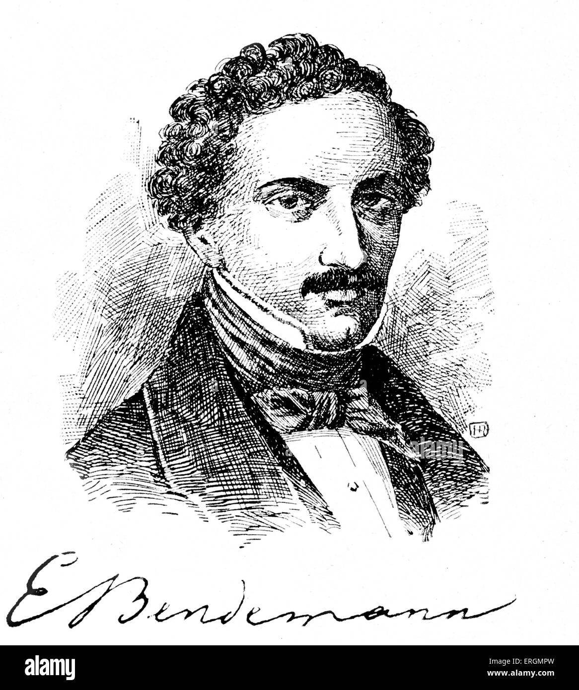Eduard Bendemann (1811-1889) was a German Jewish painter, and director of the Dusseldorf Academy. - Stock Image