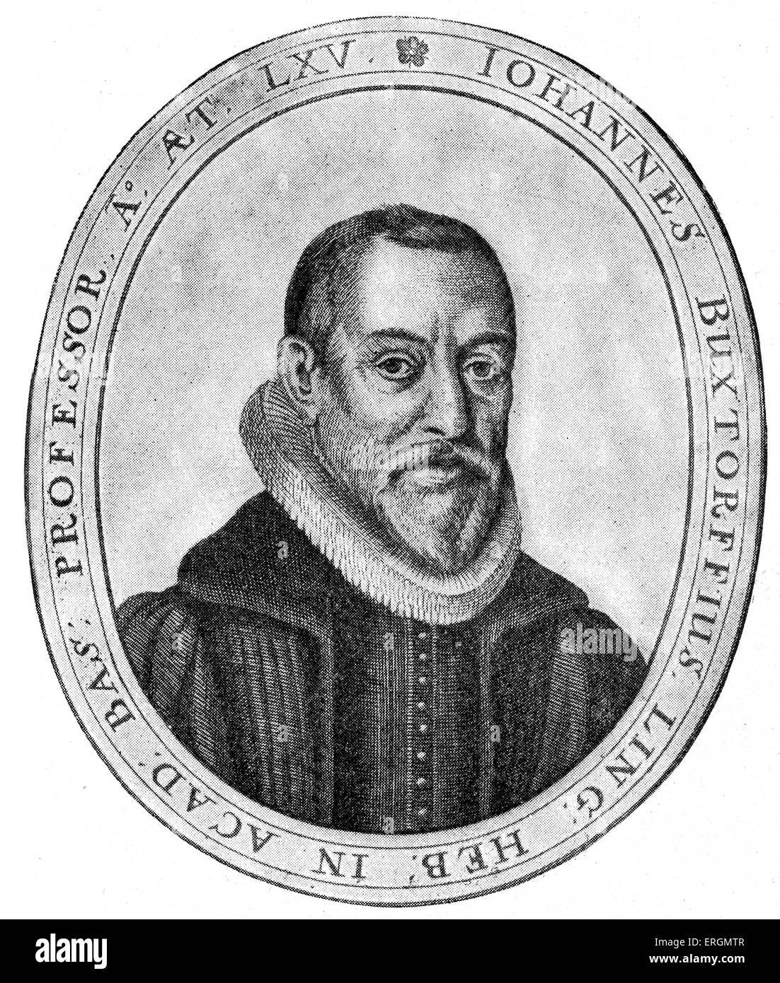 Johannes Buxtorf I (1564-1629) was a scholar of Hebrew and professor of Hebrew studies at Basel University, Switzerland, - Stock Image