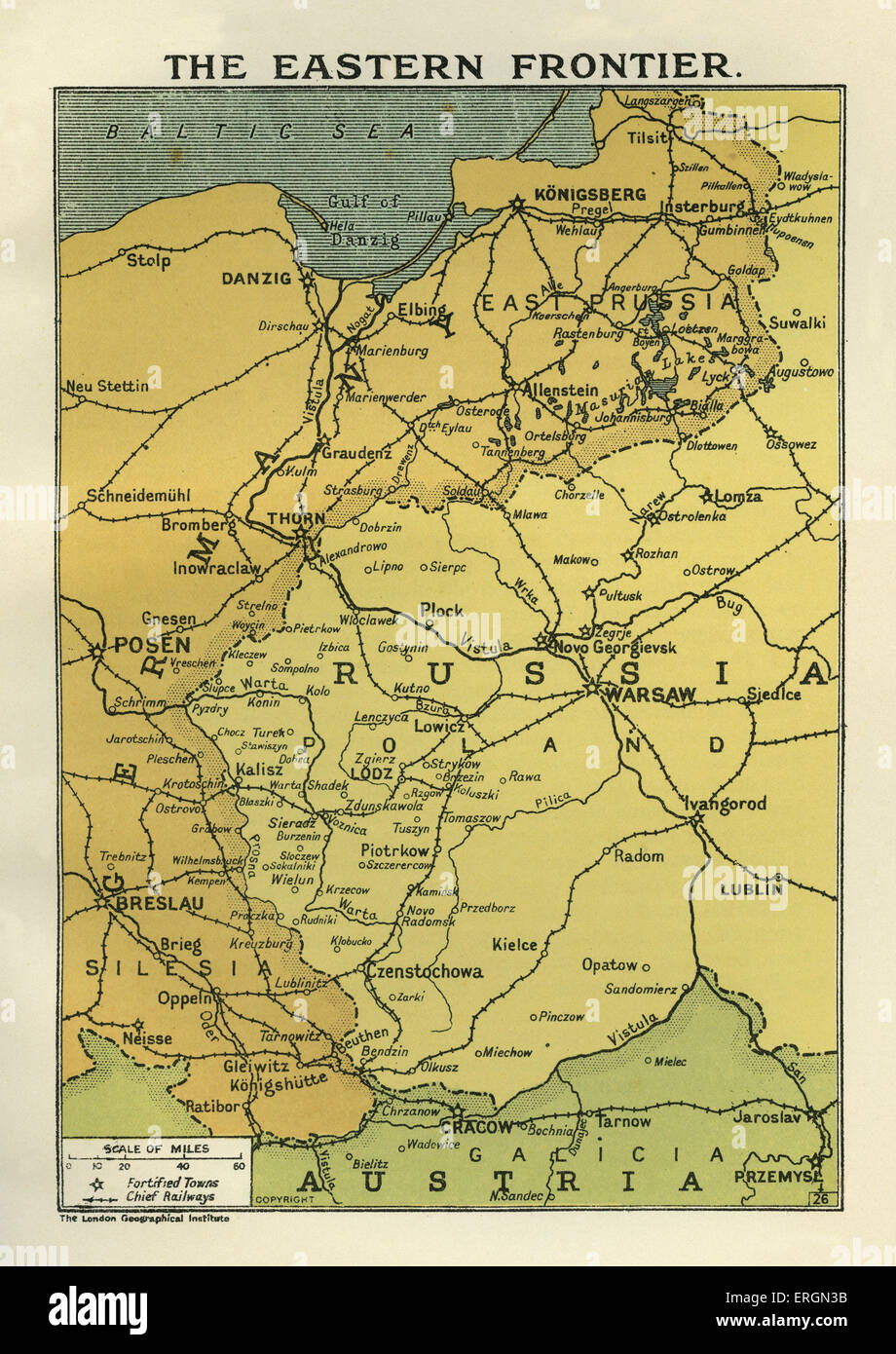 wwi map of the eastern frontier