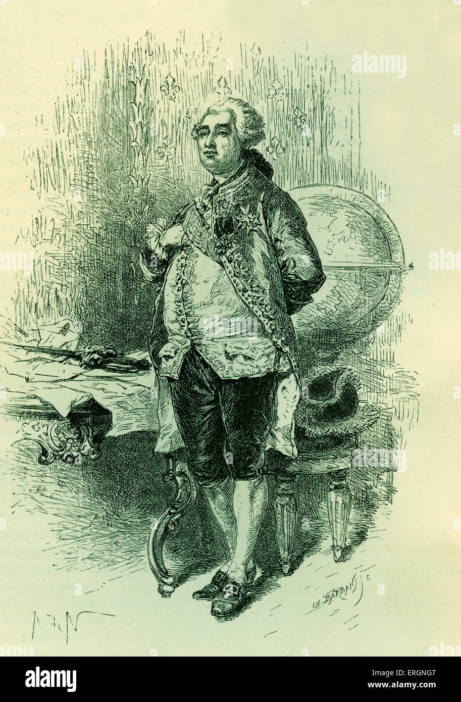King Louis XVI of France -23 August 1754 – 21 January 1793 - Stock Image