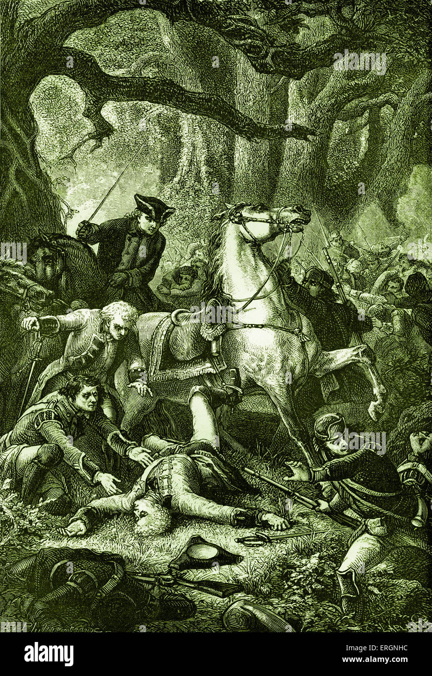 General Edward Braddock, commander-in-chief of the British forces in North America at the start of the French and - Stock Image