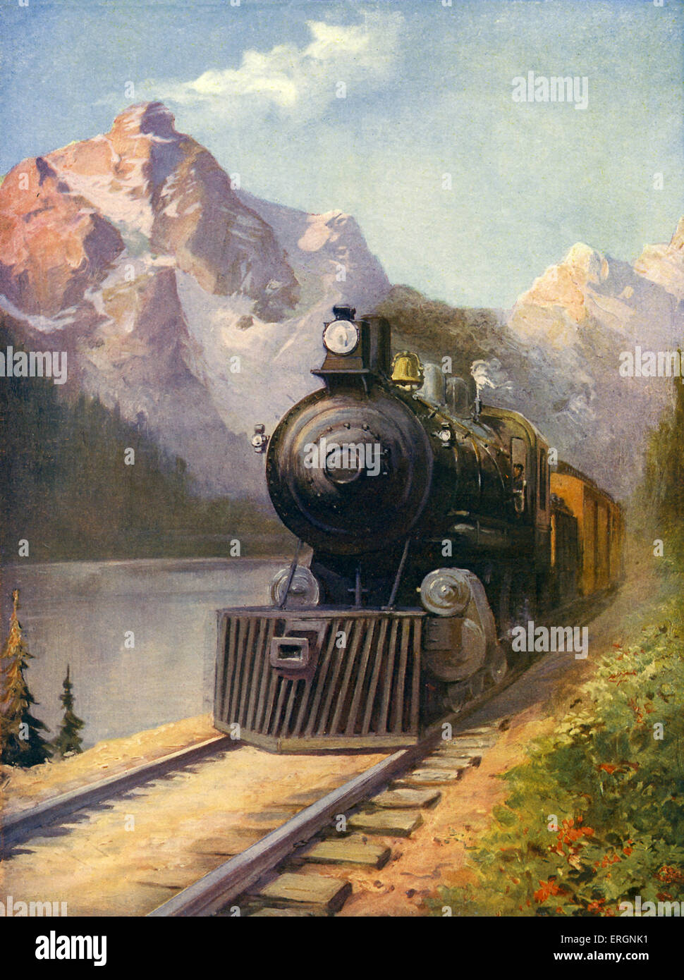 The Canadian Pacific Transcontinental Express - connecting the Atlantic with the Pacific spanning across Canada. - Stock Image