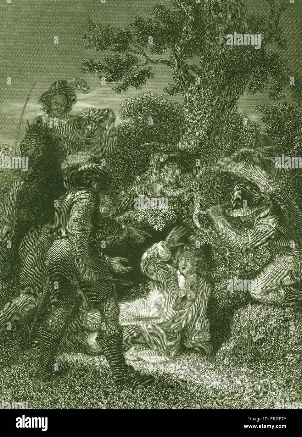 Duke of Monmouth taken after the battle of Sedgemoor. James 1st Duke of Monmouth (1649-1685) the illegitimate son - Stock Image