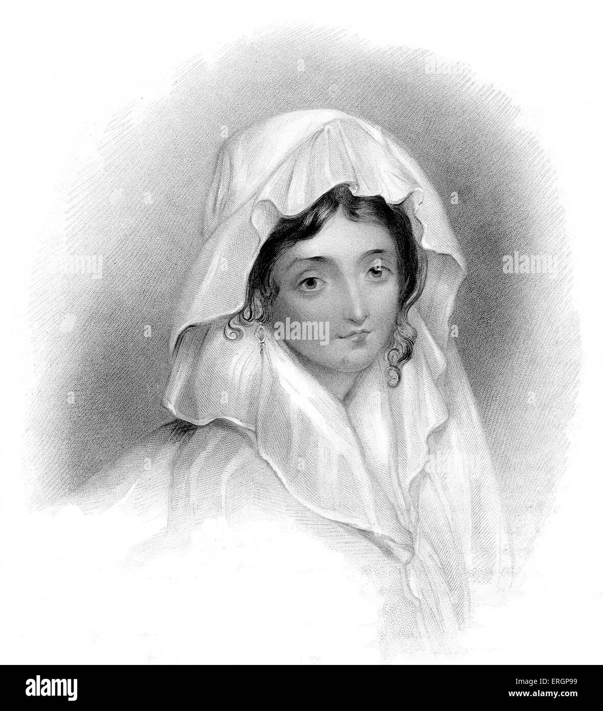 Margarita Cogni. wife of a Venetian baker who Byron had a short affair with in 1817. Engraving by Henry Thomas Ryall - Stock Image