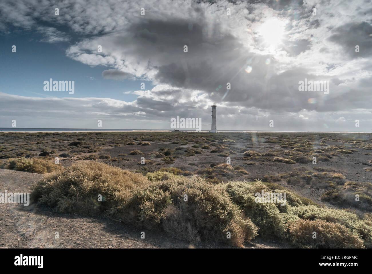 Lighthouse Faro de Jandia, Fuerteventura Canary Islands Spain - Stock Image