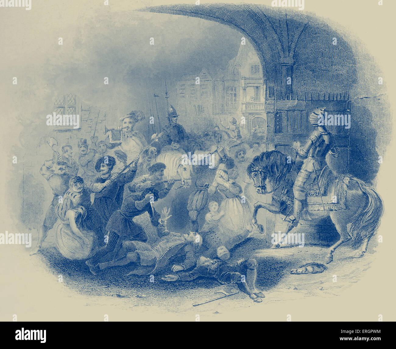 St. Bartholomew 's Day massacre, 1572. Stock Photo