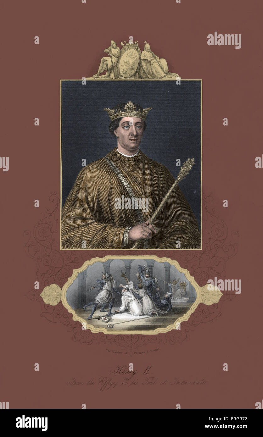 Henry II, King of England 1154–89, portrait. 5 March 1133 – 6 July 1189. - Stock Image