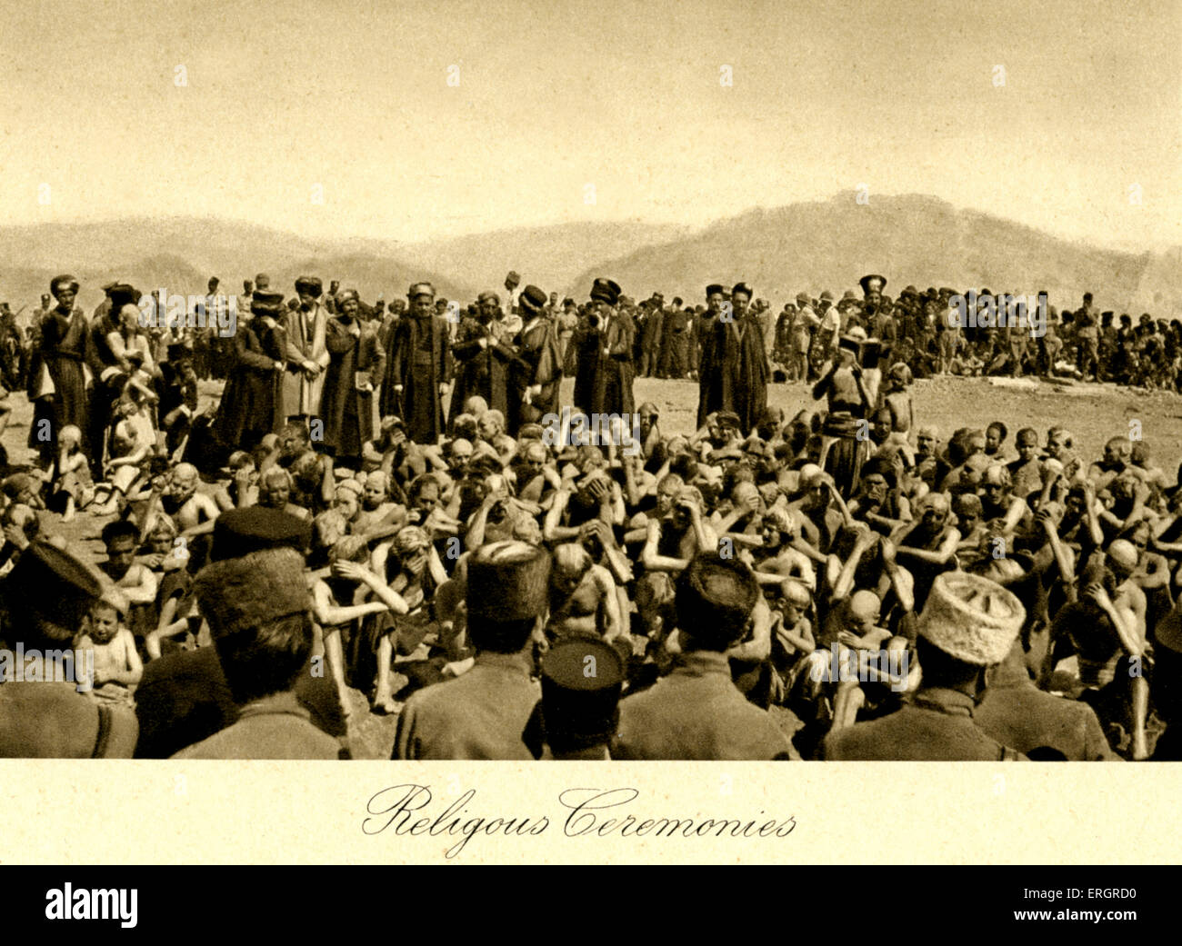 Iraq - Religious ceremonies. Photo taken in 1920s after creation of Iraq ( from Baghdad, Camera Studio Iraq, A Kerim Stock Photo