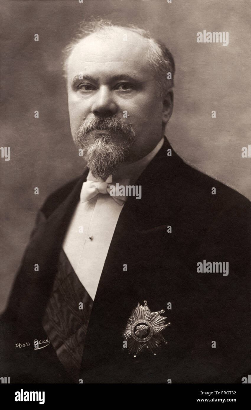 Raymond Poincaré - portrait.  President of the French Republic (1913-1920), closely associated with Entente - Stock Image