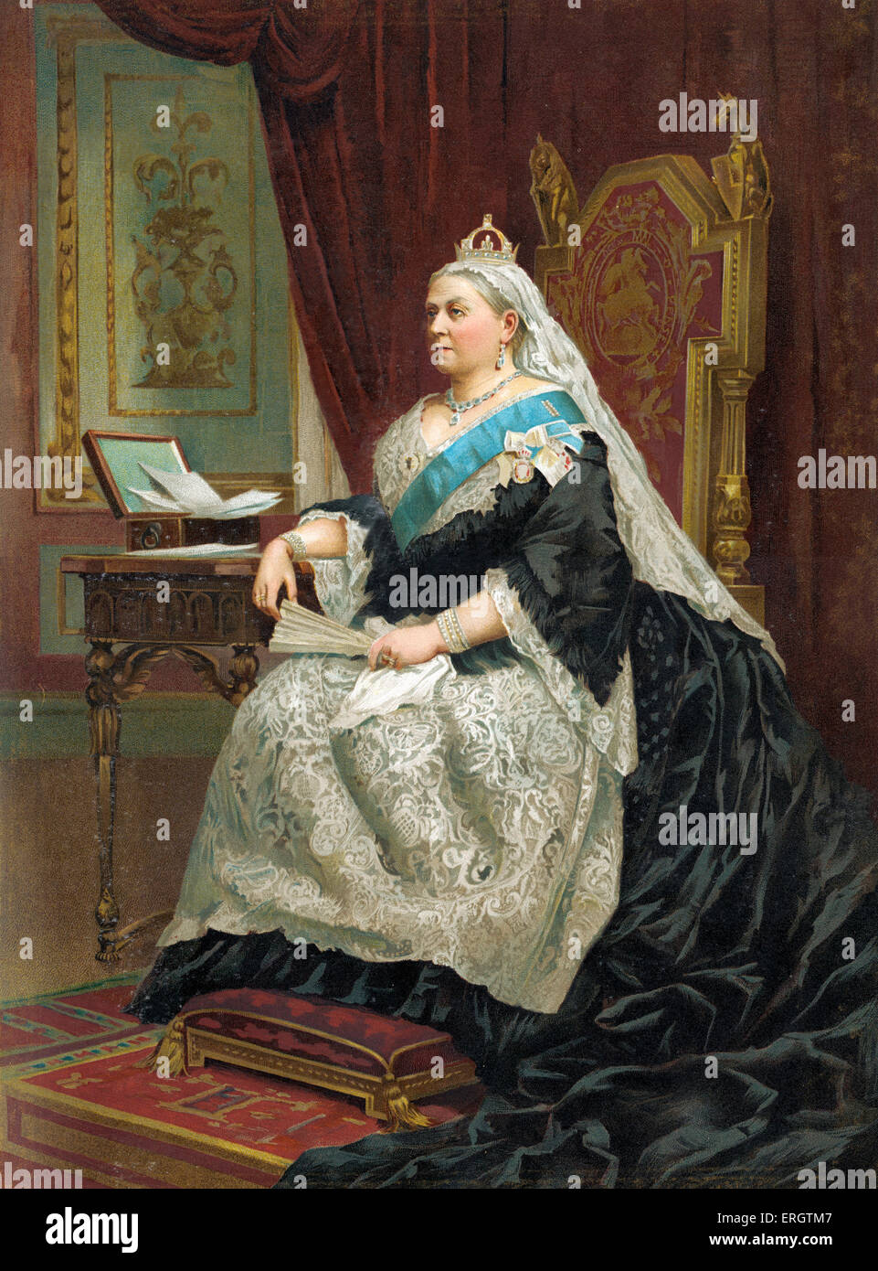 Queen Victoria of England - portrait of Her Majesty in 1887. 24 May 1819 – 22 January 1901. - Stock Image