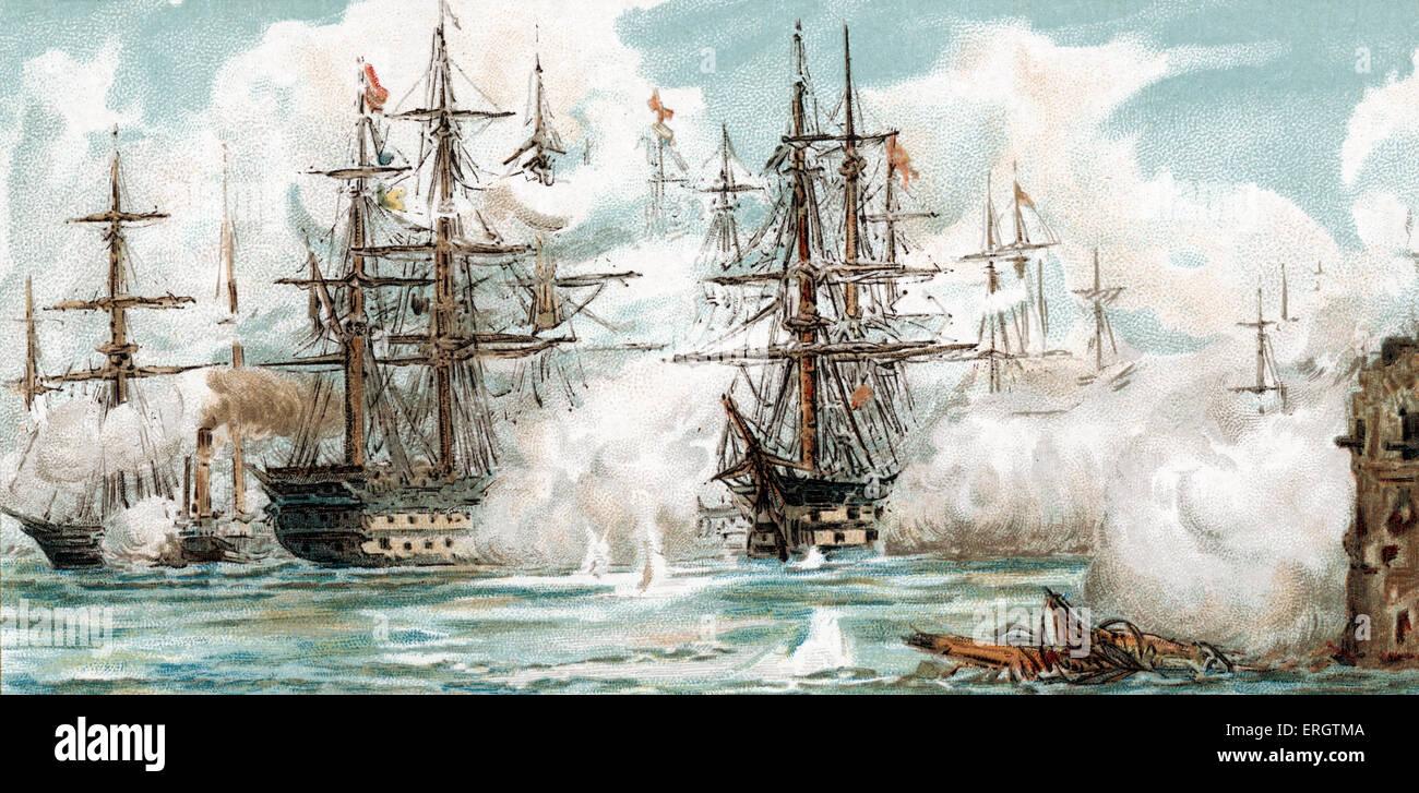 Crimean War - Bombardment of Sevastopol, 17 November 1854. Wars. Now called Sevastopol - Stock Image