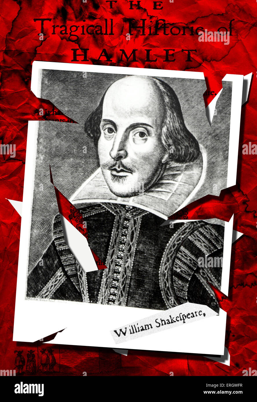 William Shakespeare collage compilation by Oscar Vila Nieto - Stock Image