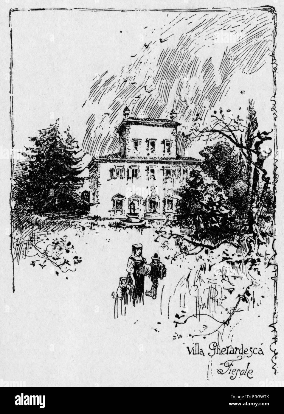 Walter Savage Landor's villa at Fiesole. WSL: English writer and poet, 30 January 1775 – 17 September 1864. - Stock Image