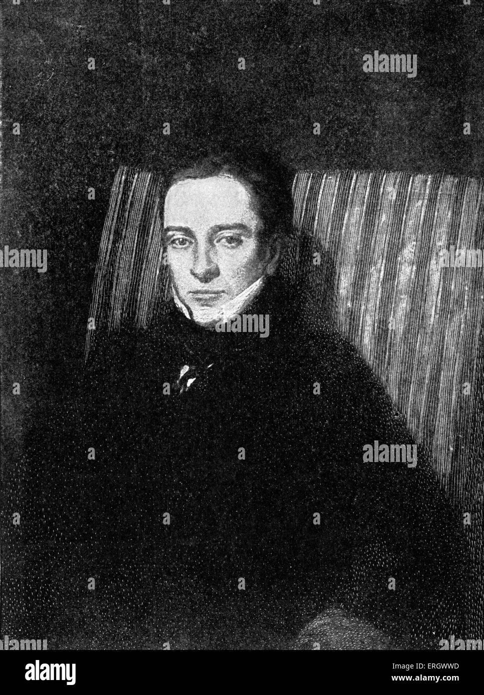 Thomas Hood: British humorist and poet, 23 May 1799 – 3 May 1845. - Stock Image