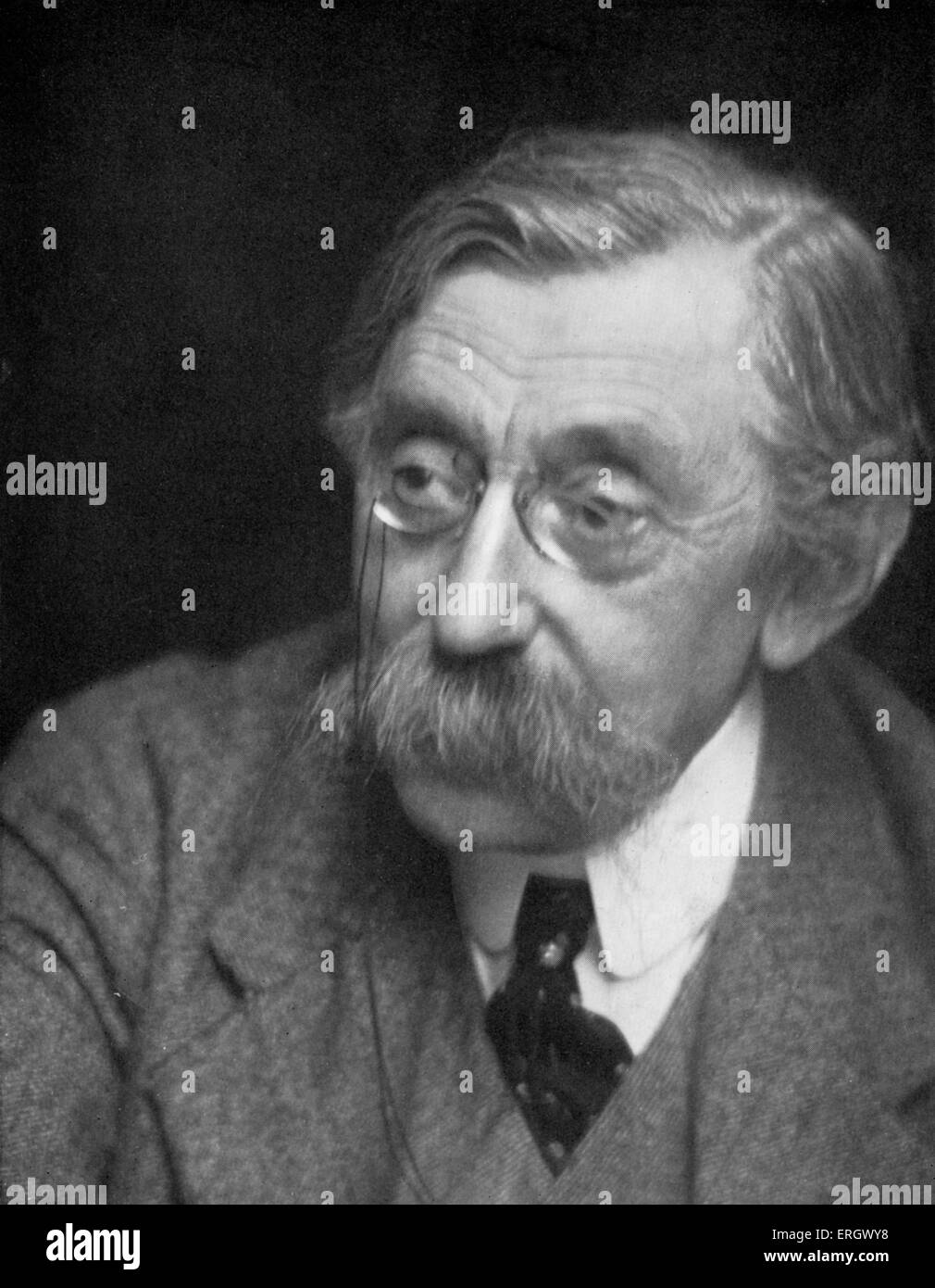 Emile Verhaeren  Belgian poet who wrote in the French language, and one of the chief founders of the school of Symbolism. - Stock Image