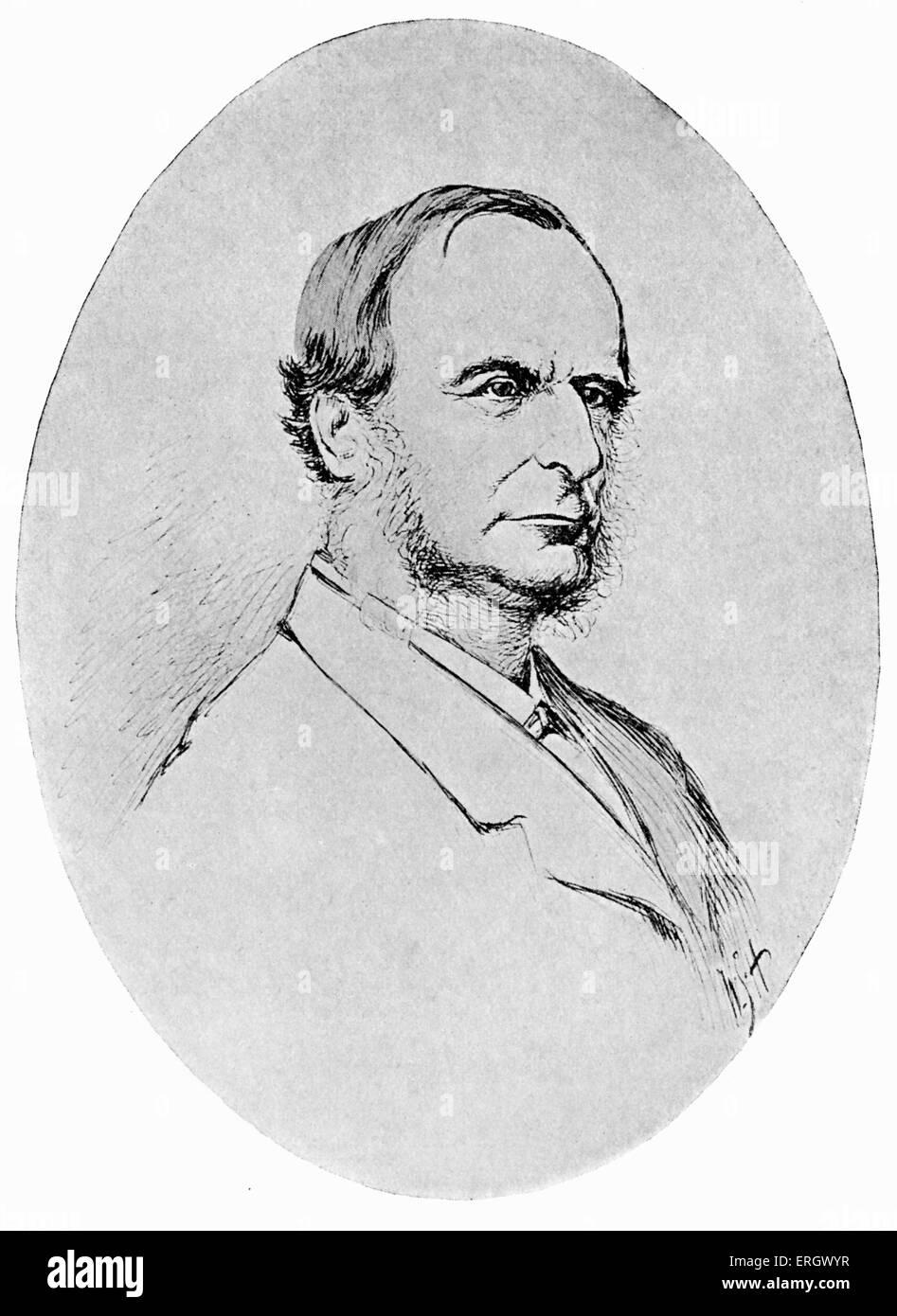 Charles Kingsley:  English novelist, 12 June 1819 – 23 January 1875. - Stock Image
