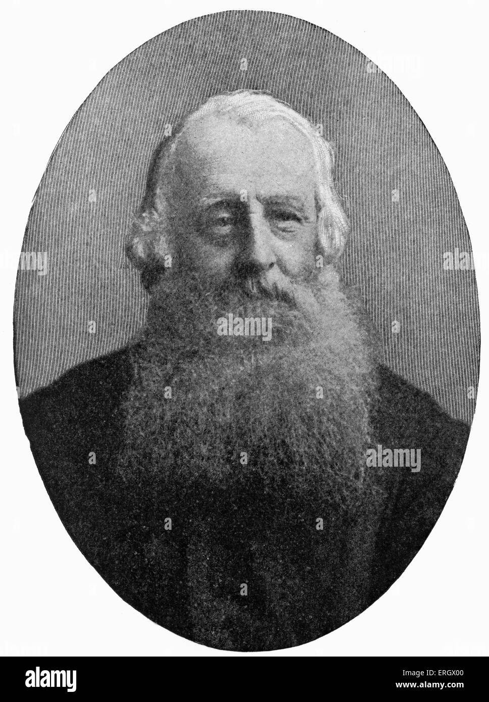 Edward Augustus Freeman:  English historian and writer, 2 August 1823 – 16 March 1892. - Stock Image