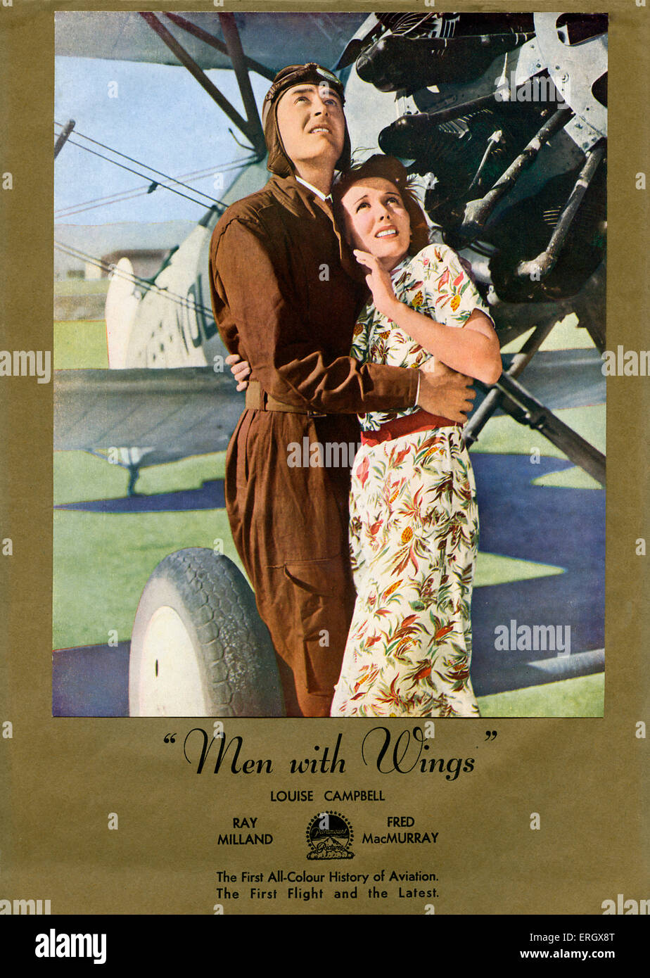 'Men with Wings': Drama by Robert Carson released in 1938.  Directed by William Wellman. Caption reads: - Stock Image