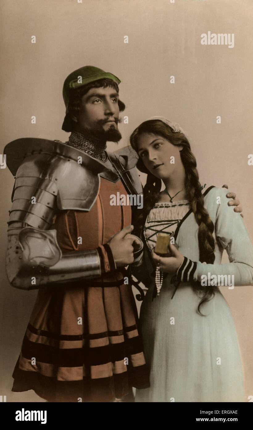 'Faust': Scene from a production of the classic German legend. Marie LÖhr and Godfrey Tearle as 'Margaret' - Stock Image