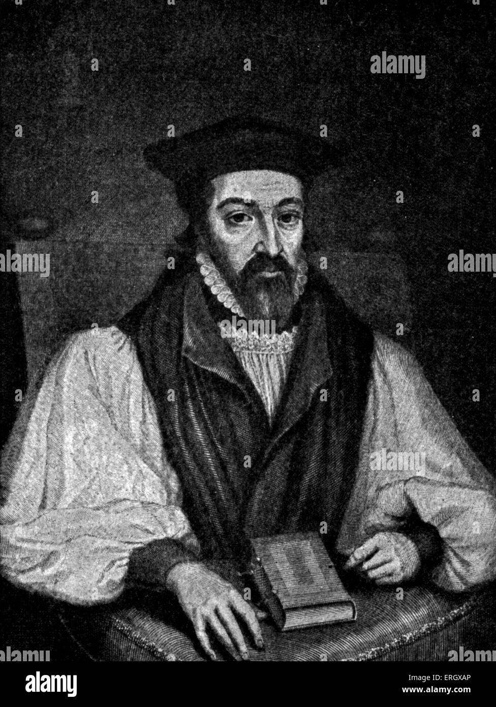 John Whitgift: Archbishop of Canterbury from 1583 to his death, c 1530 – 29 February 1604. After an engraving by - Stock Image