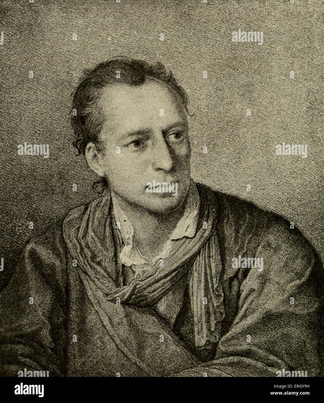 Johann Joachim Winckelmann. Lithograph after the painting by Angelika Kauffmann. German art historian and archeologist: - Stock Image