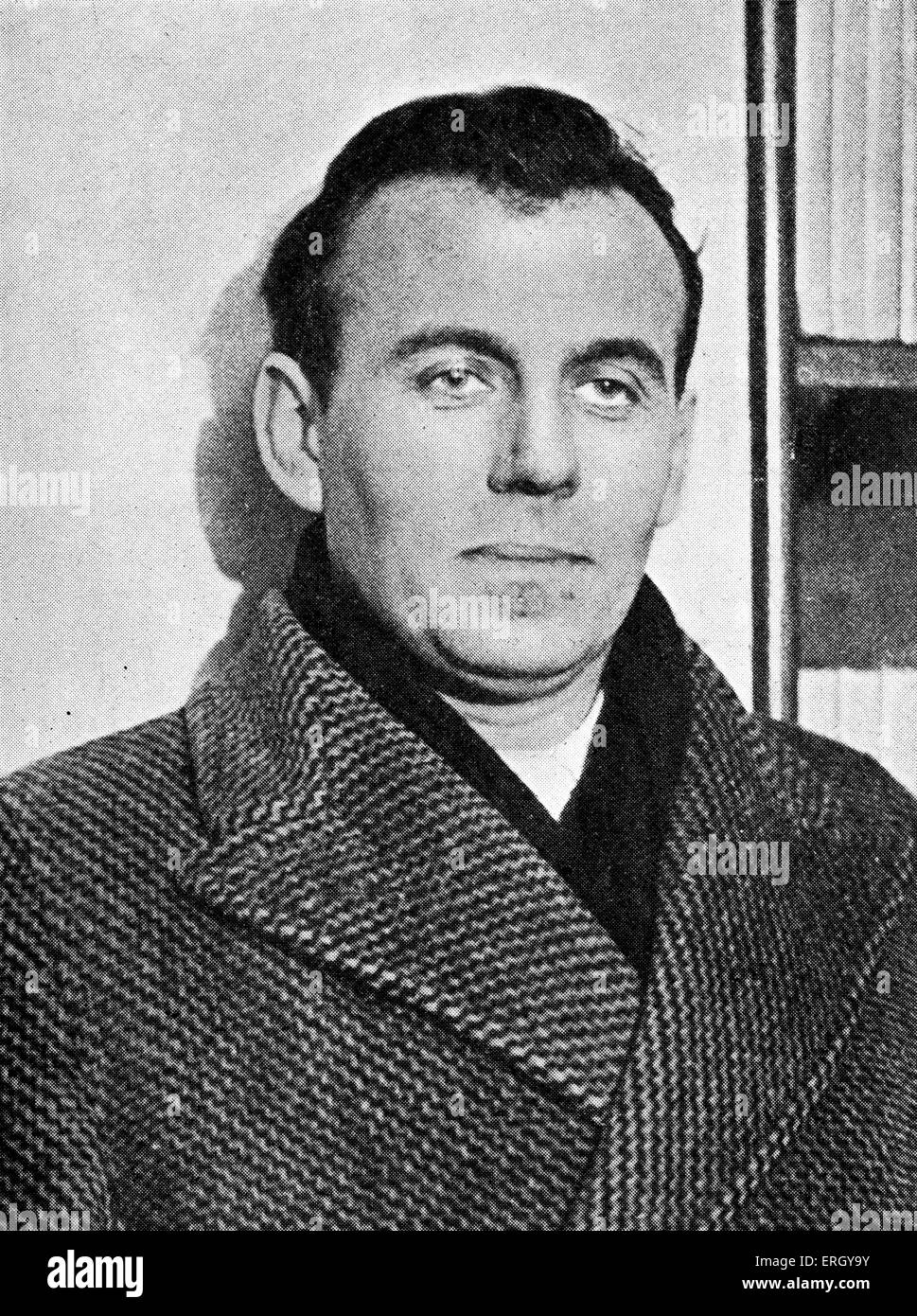 Louis-Ferdinand Céline on winning the Prix Renaudot for his novel Journey to the End of the Night, 1932. Louis - Stock Image