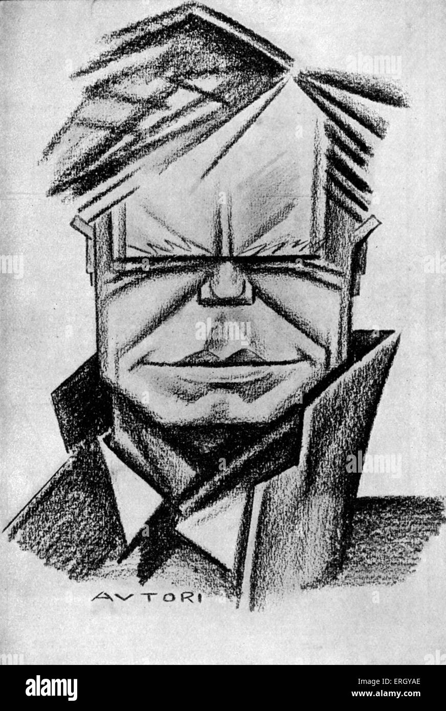 'Beaverbrook: The statesman and the man' by Edgar Middleton.  1930s Caricature by Avtori.. William Maxwell - Stock Image