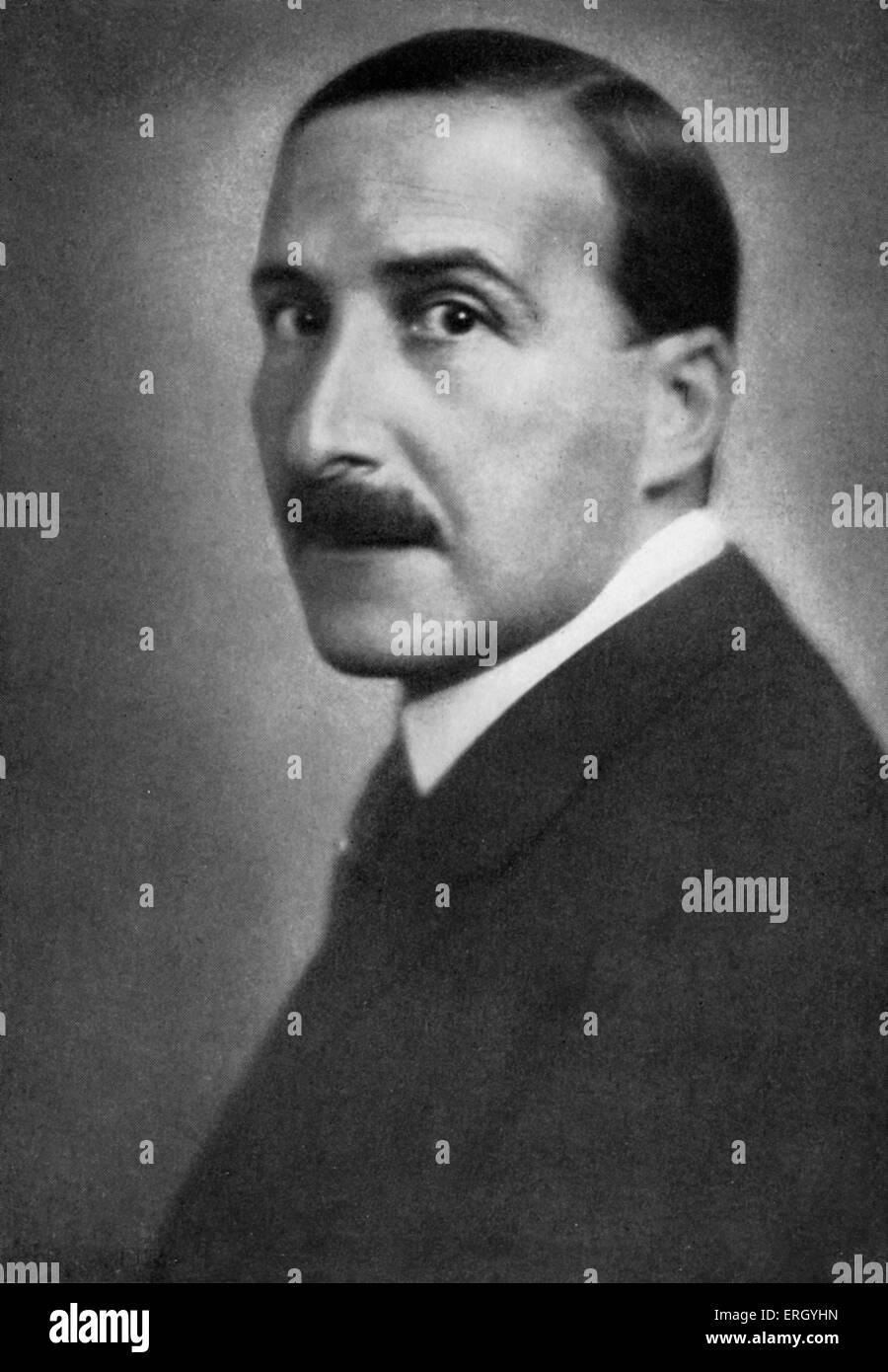 Stefan Zweig in 1940. Austrian novelist, playwright, journalist and biographer. 28 November 1881 - 22 February 1942. - Stock Image