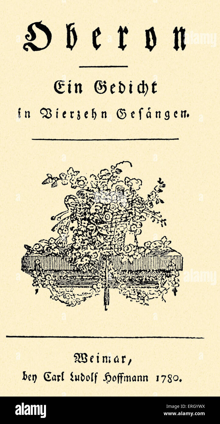 Oberon By Christoph Martin Wieland 1780 German Poet 5