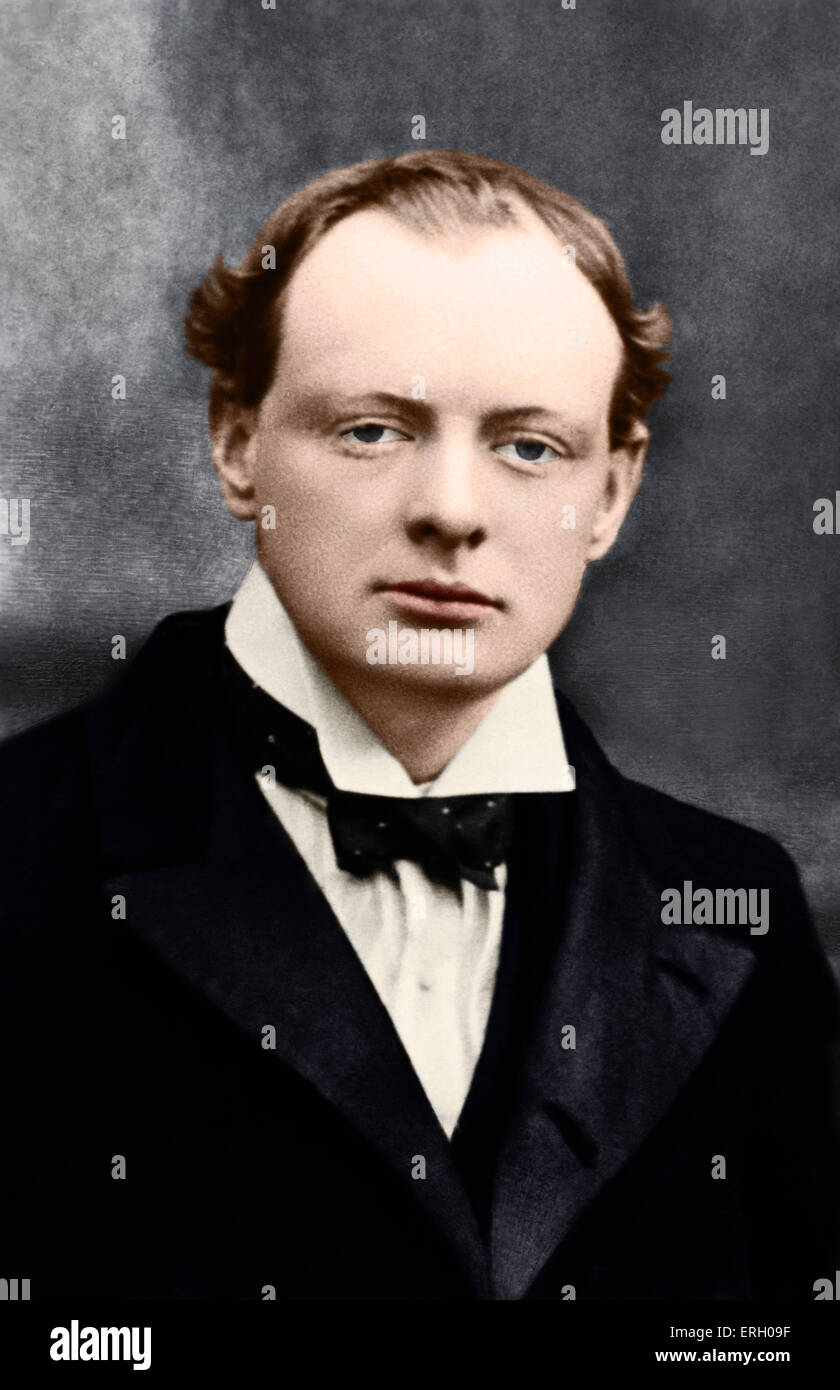 Sir Winston Churchill as a young man, British Prime Minister, 1874-1965. - Stock Image