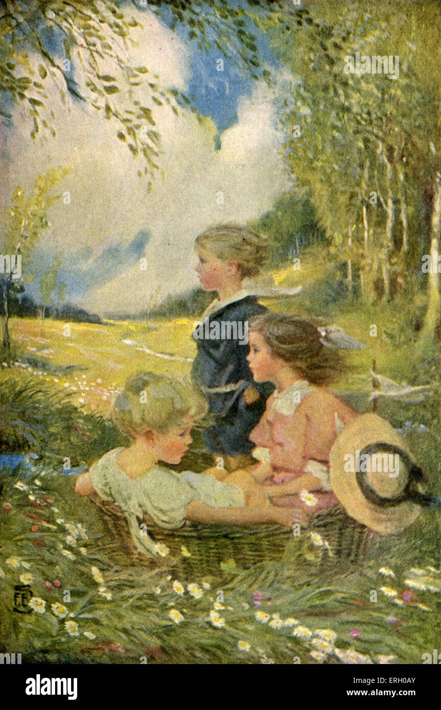 a childs garden of verses by robert louis stevenson first published in 1909 illustrated by florence edith storer caption - A Childs Garden Of Verses