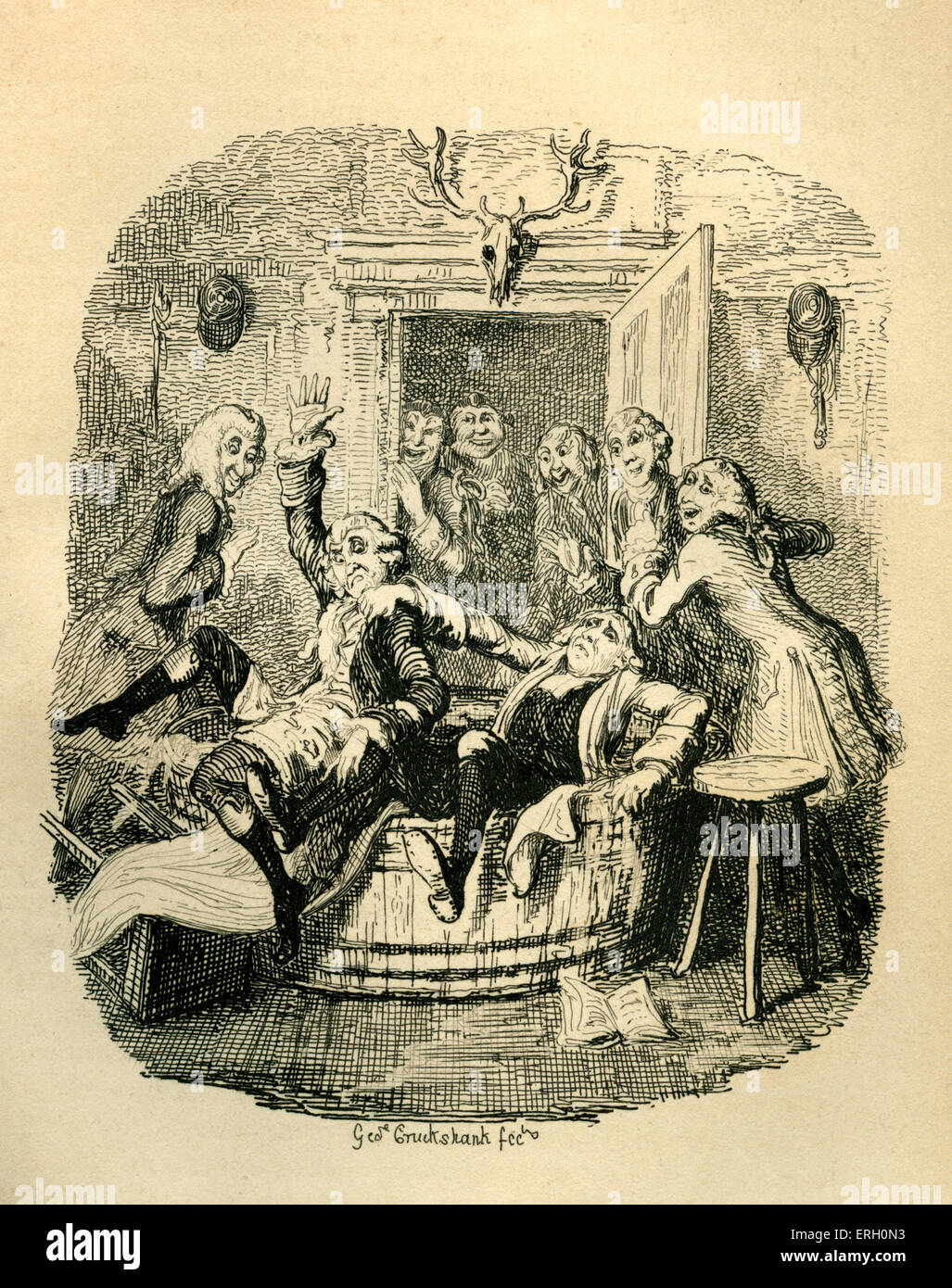 Henry Fielding 'The Adventures of Joseph Andrews'. Caption reads: 'The Ambassador.' (Fall of Parson - Stock Image
