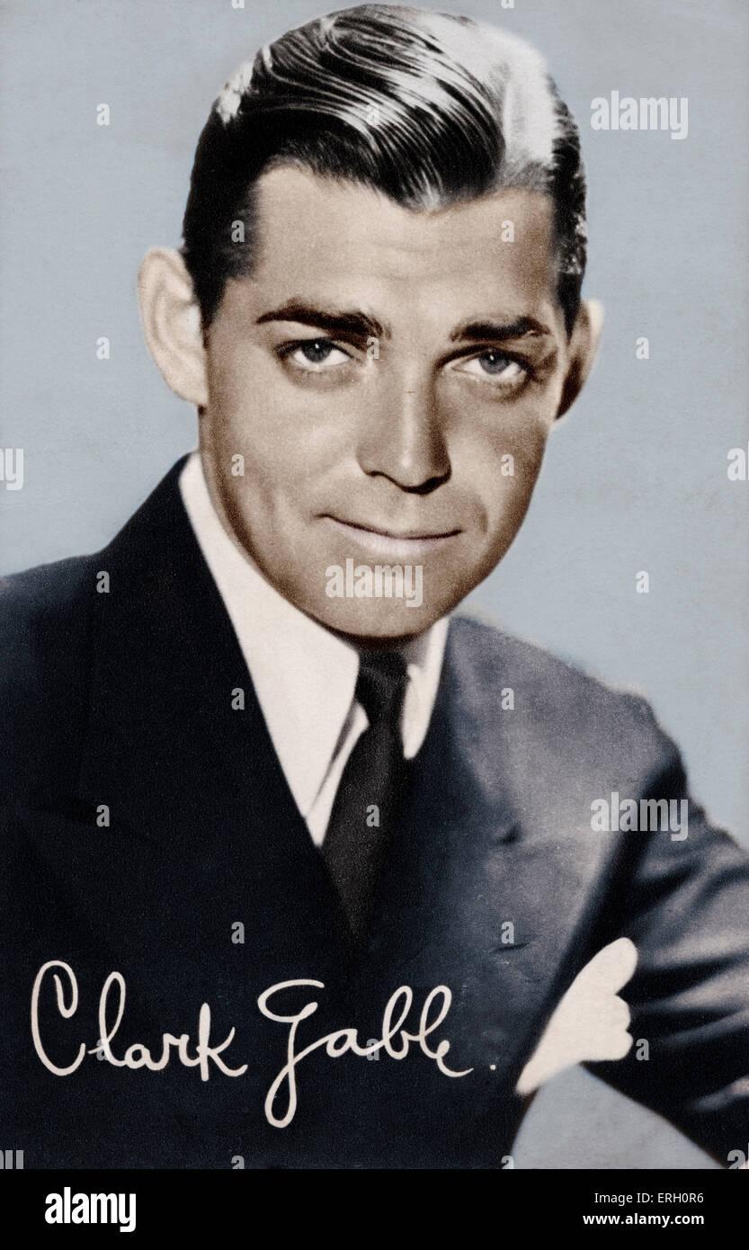 Clark Gable, portrait. American film actor 2 February 1901 - 16 November 1960. Publicity still. - Stock Image