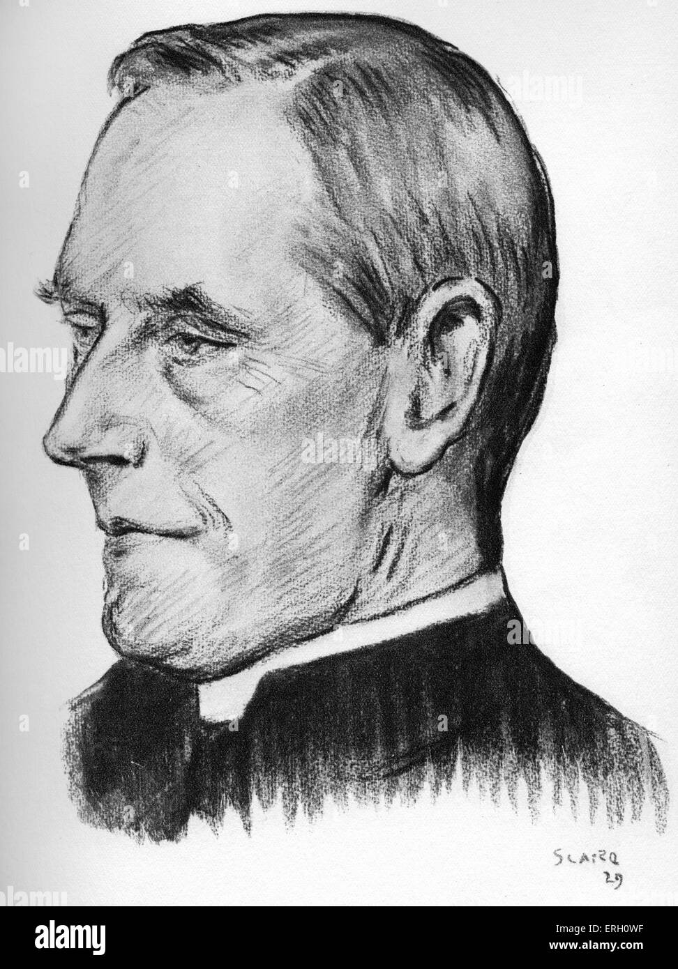 Dean Inge. English author, Anglican priest, and professor of divinity at Cambridge. William Ralph Inge: June 6 1860 - Stock Image
