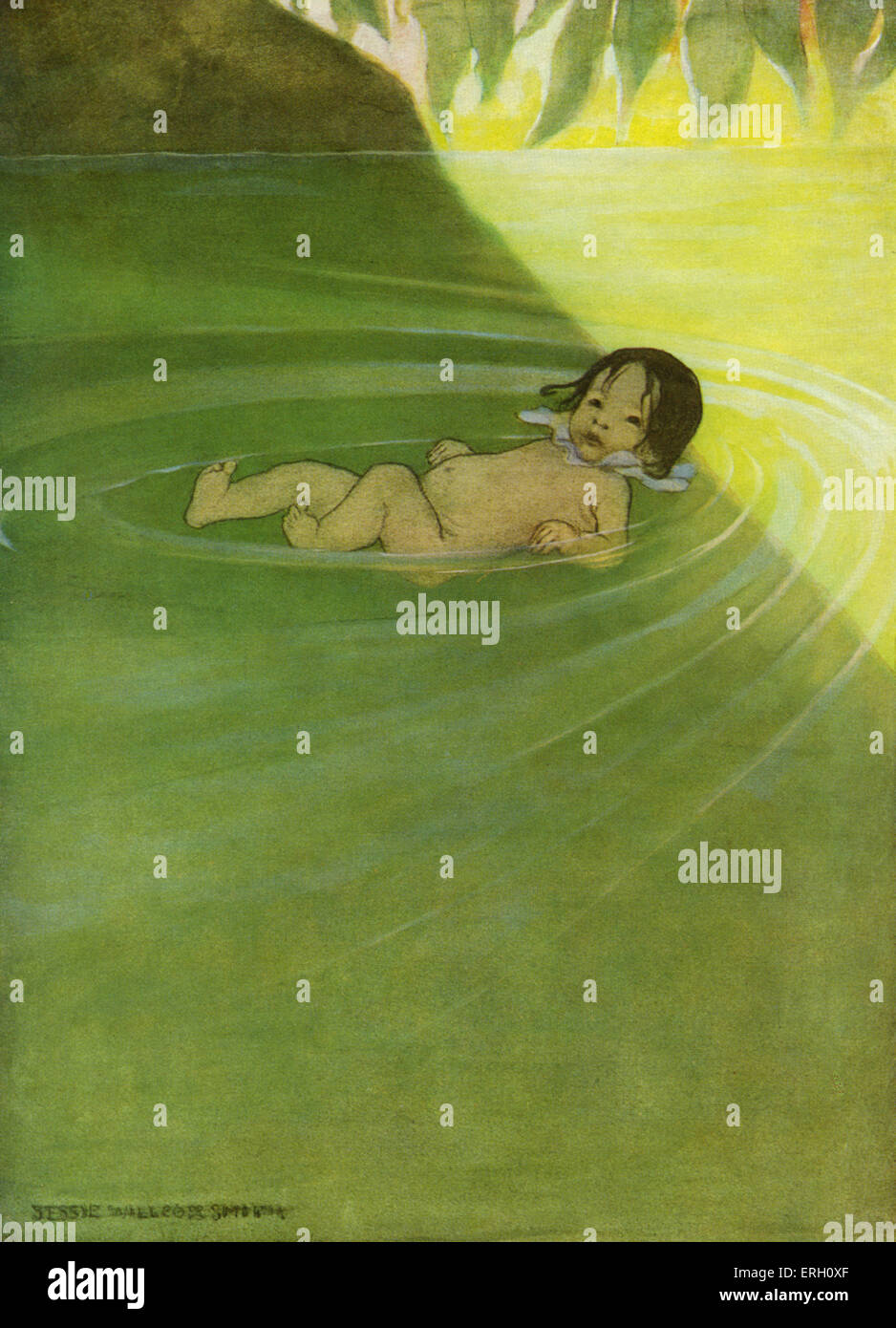 The Water Babies by Charles Kingsley first published in 1863. Caption: He felt how comfortable it was to have nothing - Stock Image