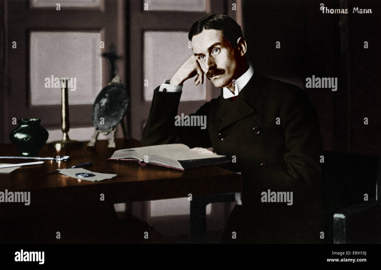 Thomas Mann as a  young man German writer, 1875-1955. His novel 'Death in Venice' is at the source of the - Stock Image