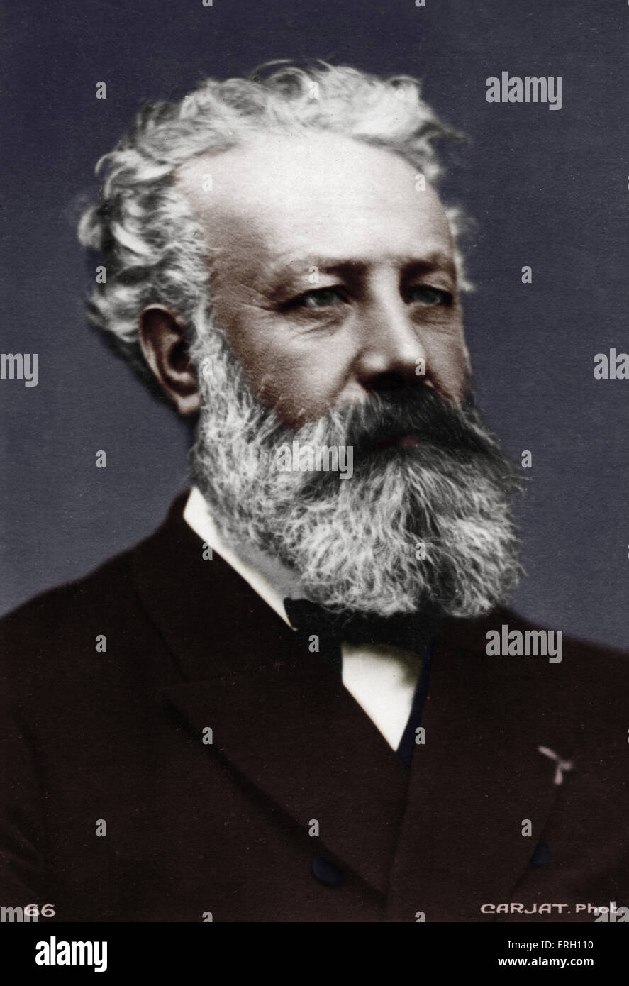 Jules Verne - Portrait. French writer. 1828-1905.  Author of 'Eighty days around the world', 'Journey to the centre Stock Photo
