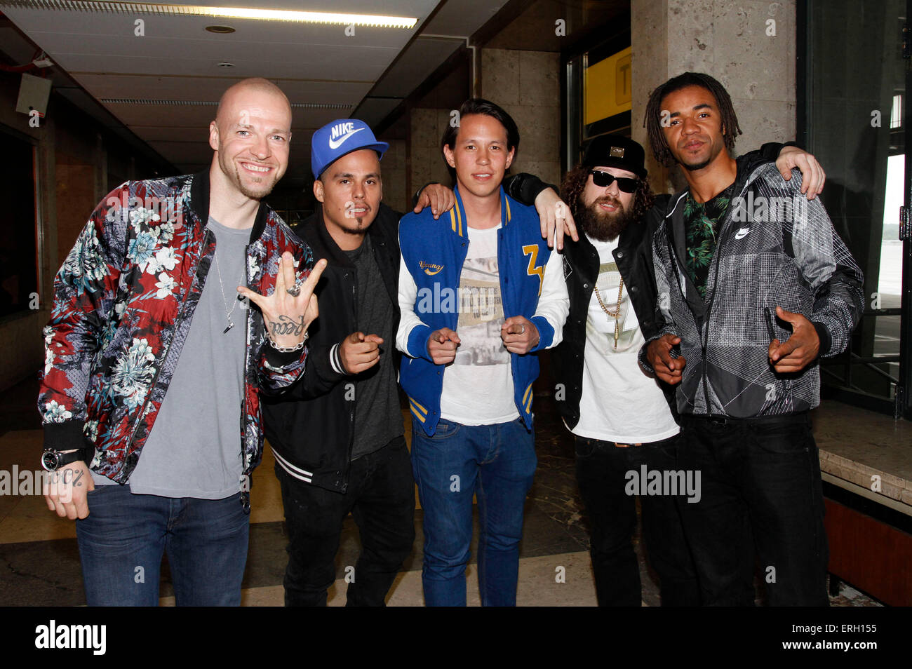 Culcha Candela attend the pre party of the Lollapalooza-Festival (12.-13. September) at the Sonari Club on June - Stock Image