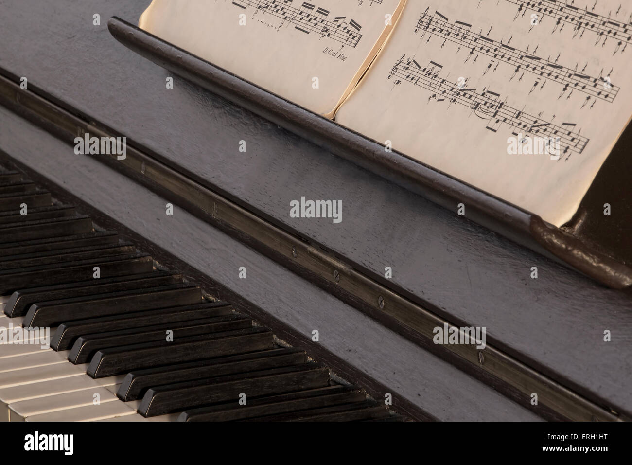 Old, classical, music, and vintage piano and scores  Concept