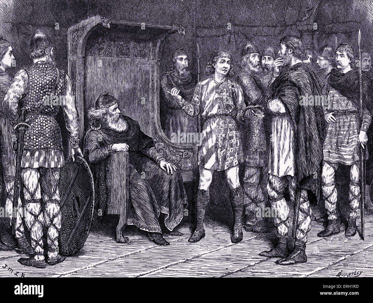 essay on macbeth act 1 scene 7 Hautboys play the stage is lit by torches a butler enters, and various servants carry utensils and dishes of food across the stage.