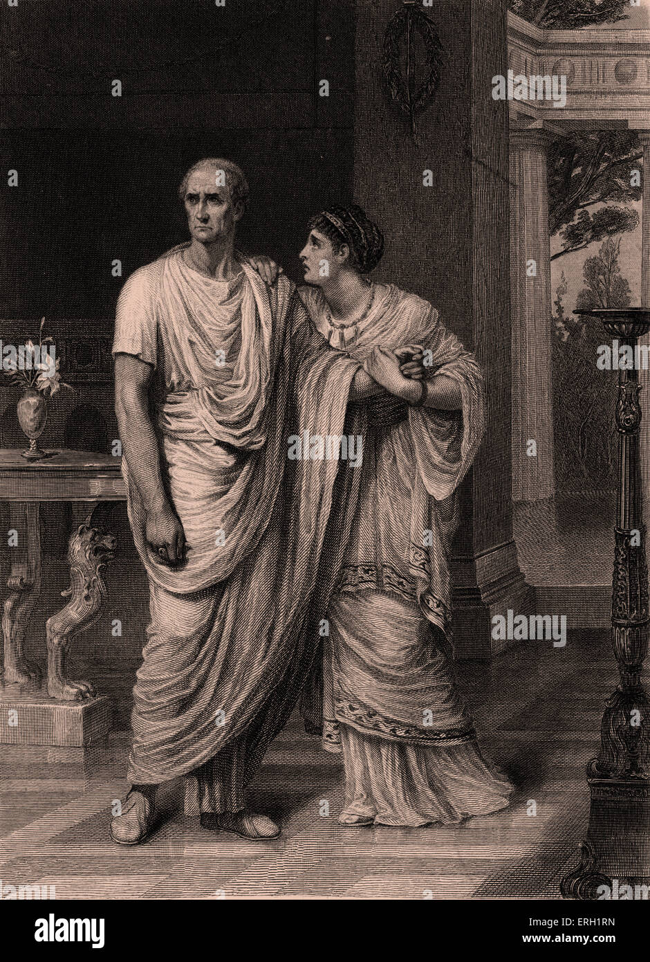 calphurnia and decius trying to persuade caesar to adhere to their sides in the play julius caesar b Gaius julius caesar (classical latin: [ˈɡaːiʊs ˈjuːlɪʊs ˈkajsar], july 100 bc - 15 march 44 bc) was a roman general, statesman, consul and notable author of latin prose he played a critical role in the events that led to the demise of the roman republic and the rise of the roman empire.